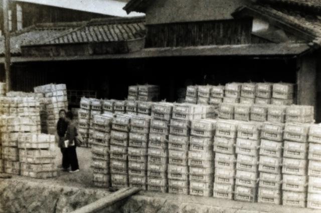 昭和30年ごろの線香出荷風景
