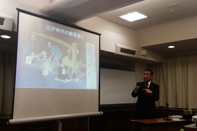 東京淡路会での講演の模様